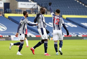 Diagne celebrates scoring.