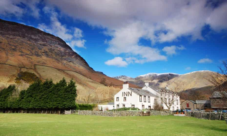 Going up in the world: Wasdale Head Inn, Cumbria.