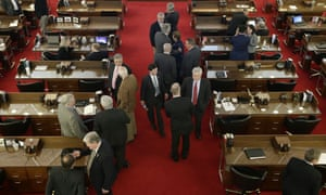 North Carolina lawmakers gather for a special session on the bill on Wednesday, March 23, 2016 in Raleigh, North Carolina.