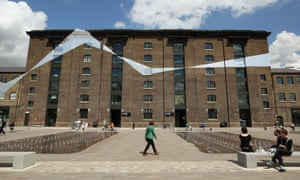 Art factory … the Granary Building, made into a temporary artwork by Swiss artist Felice Varini last year.
