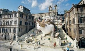 A replica of Rome's Spanish Steps at Miniatur Wunderland in Hamburg.