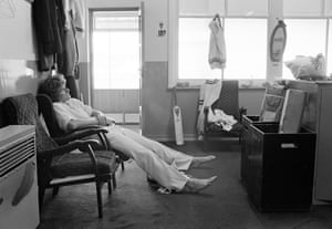 Bob Willis, captain of Warwickshire, relaxes in the dressing room after a day in the field during a county match at Edgbaston, Birmingham, in July 1978.