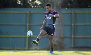 Sevu Reece trains with the Crusaders.