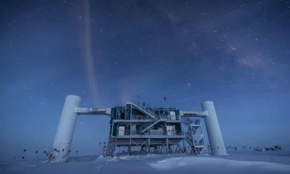 The IceCube laboratory at the Amundsen-Scott South Pole Station in Antarctica