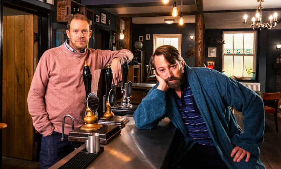 'It's brilliant, because we get a chance to miss each other' … Webb as Andrew, with David Mitchell as Stephen in series two of Back.