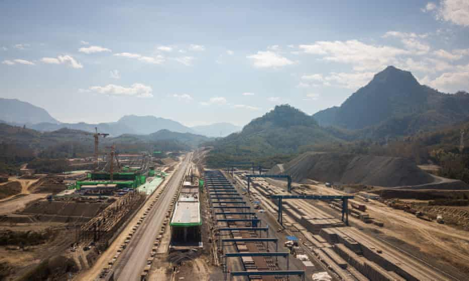 Photo taken in December 2020 shows the construction site at the Luang Prabang station in Laos, part of the BRI China-Laos railway project.