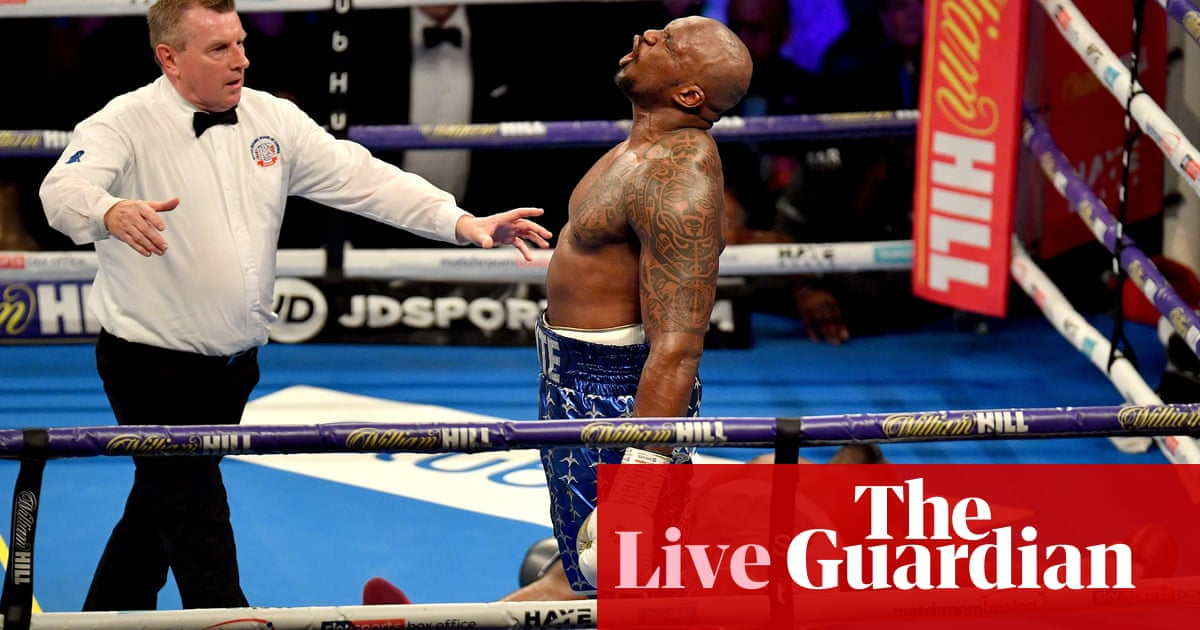 dillian whyte knocks out derek chisora in 11th round as it