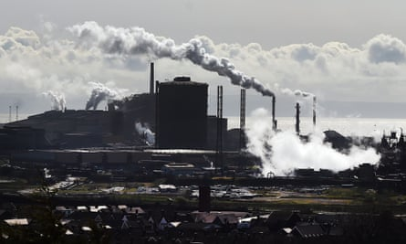Tata steel plant in Port Talbot, south Wales, Britain