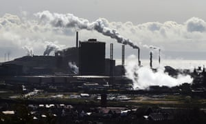 Tata steel plant in Port Talbot, south Wales