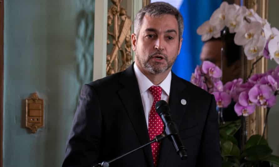 Mario Abdo Benítez in Asuncion, Paraguay on 6 September 2019.