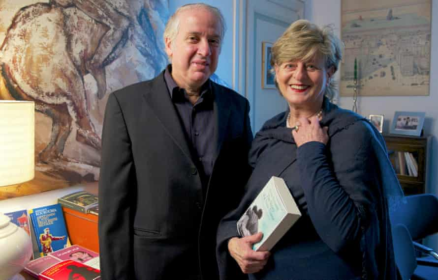 Sandro Ferri and Sandra Ozzola at their office at Edizioni E/O in Rome.
