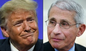 On Sunday, Donald Trump called Dr Anthony Fauci, his top infectious diseases expert, 'a little bit of an alarmist'.