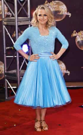 The Strictly pleat … Kellie Bright launches Strictly Come Dancing, September, 2015