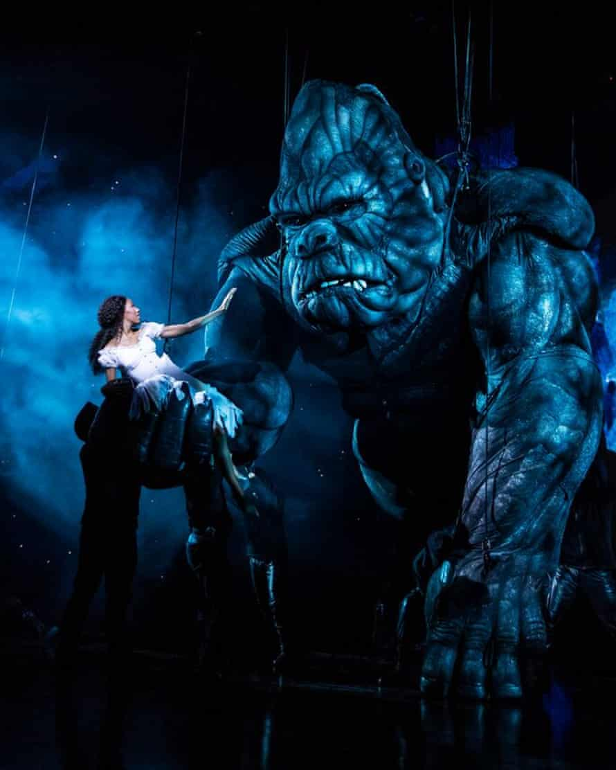 Christiani Pitts in the Broadway production of King Kong.