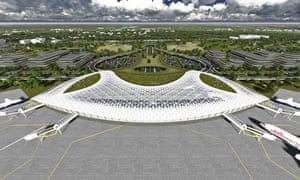 Render of the projected Houston spaceport terminal.