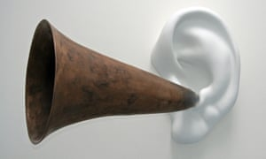 Hotline to God … Beethoven's trumpet (with Ear), opus 131, 2007, by John Baldessari.