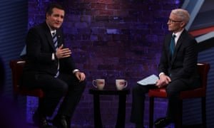 Ted Cruz talking to Anderson Cooper during the South Carolina town hall.