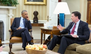 Barack Obama and FBI Director James Comey discuss the mass shooting in Orlando at the Oval Office.