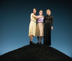 Gala Gordon, Mariah Gale and Vanessa Kirby in Three Sisters, designed by Johannes Schütz, at the Young Vic in 2012