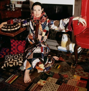 The socialite at home in 1970, in another shoot for Vogue.