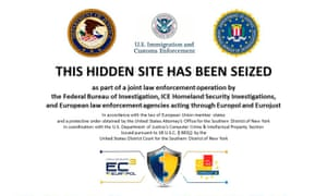 The homepage to Silk Road 2.0 website after it was closed by U.S. authorities.