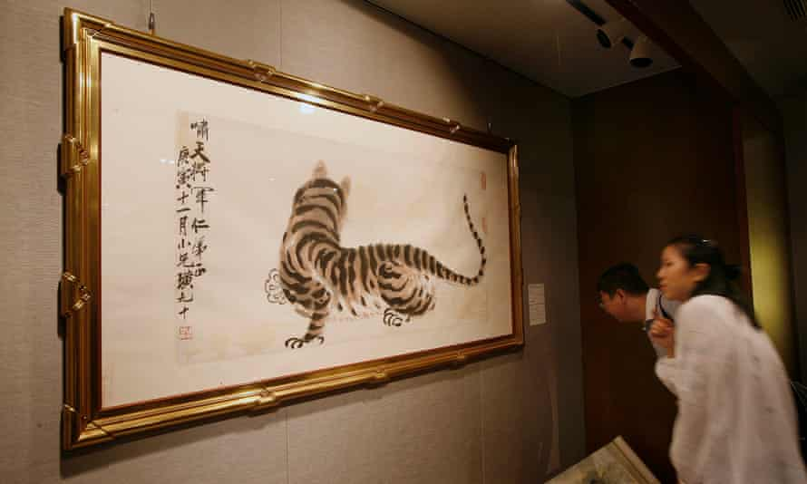 Tiger, a valuable work by the Chinese artist Qi Baishi.