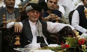Ashraf Ghani during a recent visit to Jalalabad.