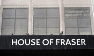 House of Fraser on Oxford Street.