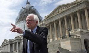 Senator Bernie Sanders on Capitol Hill