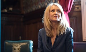 Esther McVey, who has condemned parents protesting outside schools.