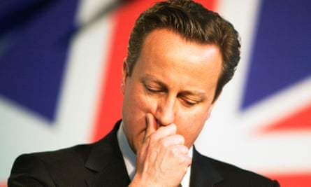 Oops … 'the fun began with David Cameron winning a majority.'