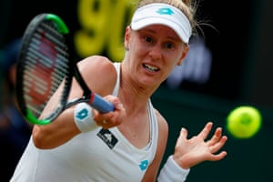 US player Alison Riske whips a forehand.