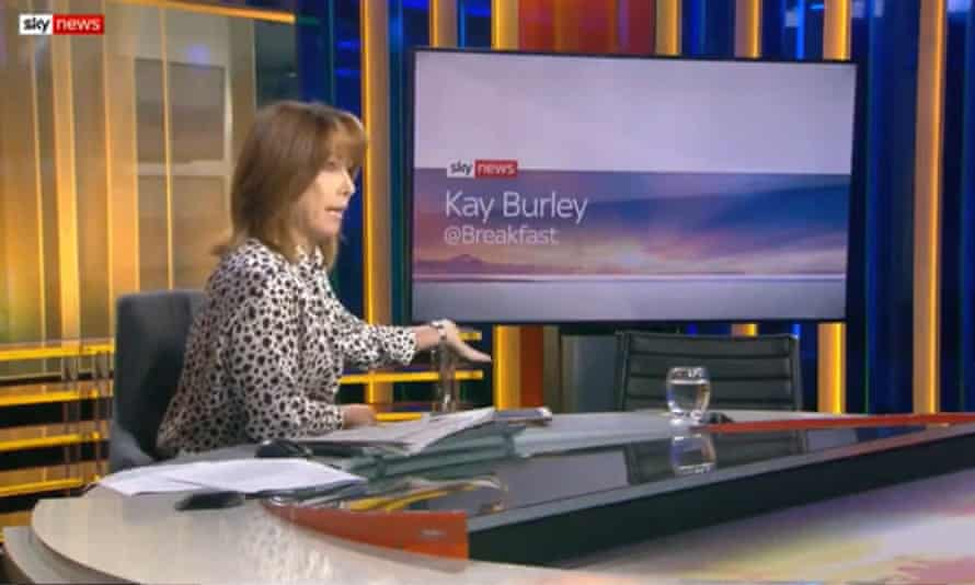 Kay Burley's empty chair 'interview' with Conservative party chairman James Cleverly in November.