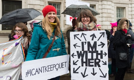 A Time's Up rally in London against sexual harassment and abuse