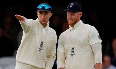 Joe Root and Ben Stokes during last summer's Ashes series. The vice-captain is set to deputise while Root attends the birth of his second child.
