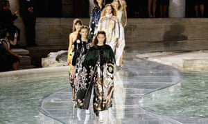 Fendi 90th anniversary catwalk show and dinner, Trevi Fountain, Rome, Italy