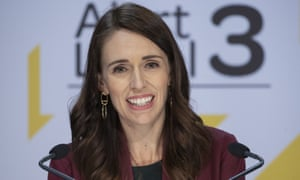 Prime Minister Jacinda Ardern gives the daily Covid-19 update in Wellington, New Zealand.