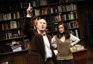 The first West End revival ... when it transferred to Trafalgar Studios, Tim Pigott-Smith took on the role of Frank, pictured here with Laura Dos Santos as Rita, 2010.