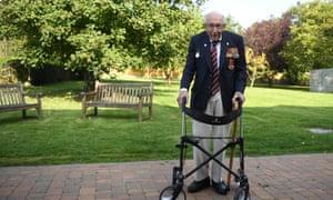 Captain Tom Moore in his garden in September.