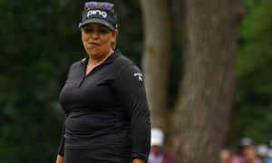 Lizette Salas's missed birdie on the 18th cost her the chance of a play-off.