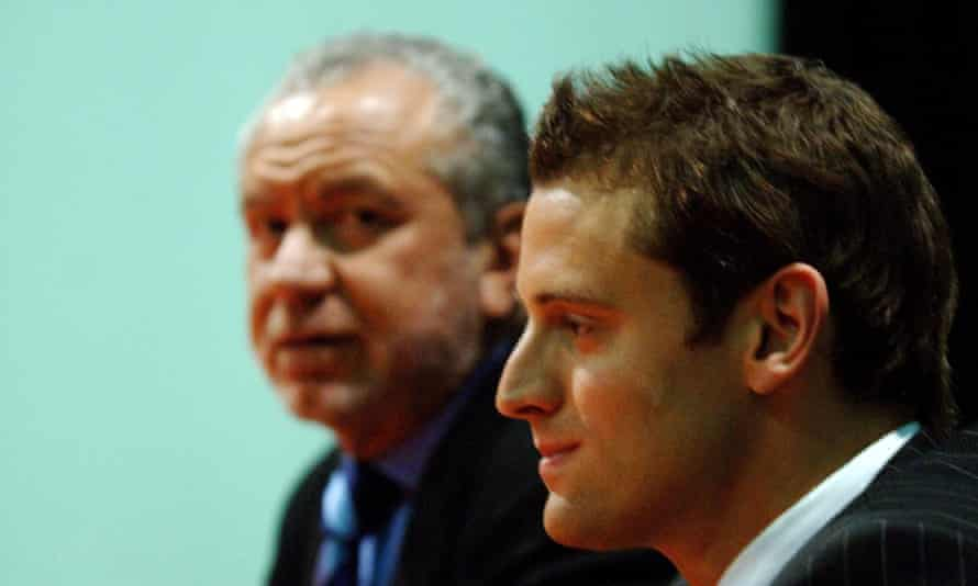 Ready to rap or dance ... Simon Ambrose with, right, Lord Sugar.