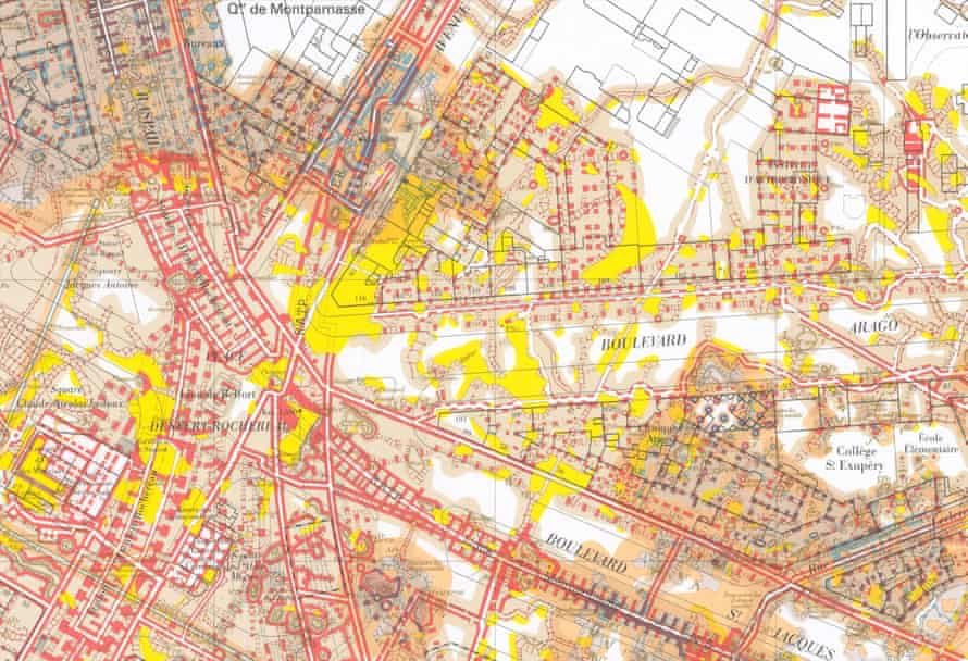 Extract of Paris's Underground Atlas produced by the IGC. Paris catacombs