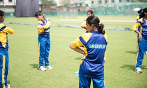 Bowled over: the Sreepur team warming up for a practice match at Mirpur national stadium.