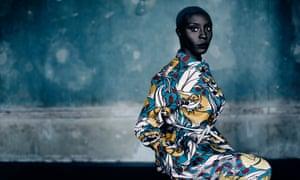 Laura Mvula in a colourful dress