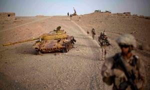 US troops pictured on patrol in Afghanistan in 2011.
