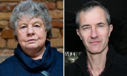 AS Byatt, left, and Geoff Dyer.