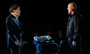 Melancholia and blind hatred... Stephen Rea as Eric and Chris Corrigan as Slim in Cyprus Avenue.