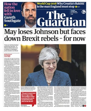 Guardian front page 10/7/18