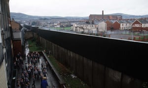 40 years on, Belfast's landscape is still scarred by the so-called 'peace walls'.