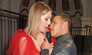 Katherine Ryan and Slowthai at the NME awards.